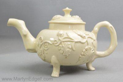 Staffordshire creamware teapot