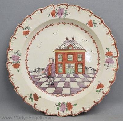 Creamware pottery plate