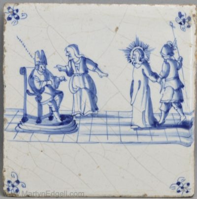 Dutch Delft biblical tile