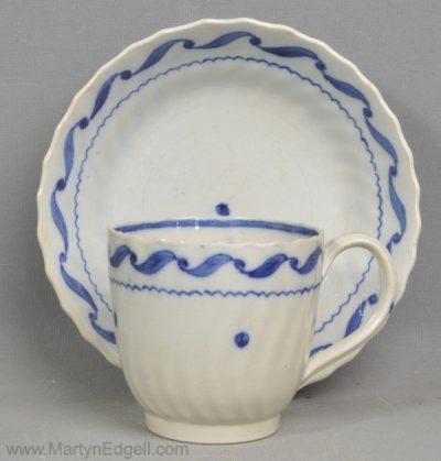 Pearlware coffee cup & saucer