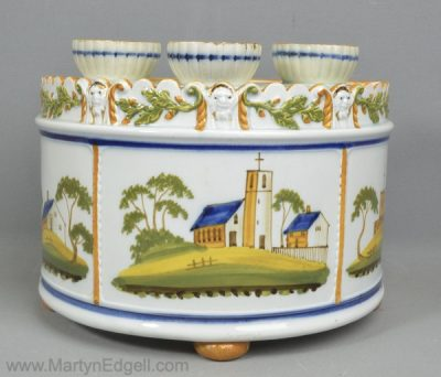 Prattware bough pot