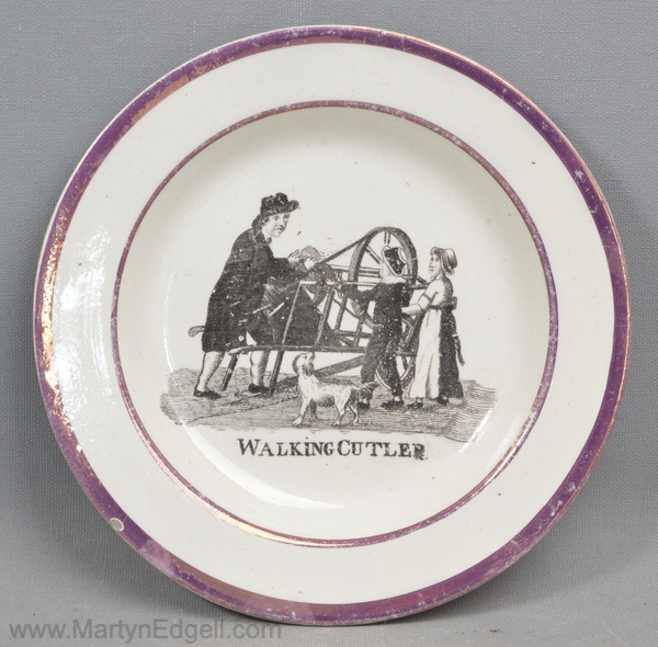 Child's pearlware plate