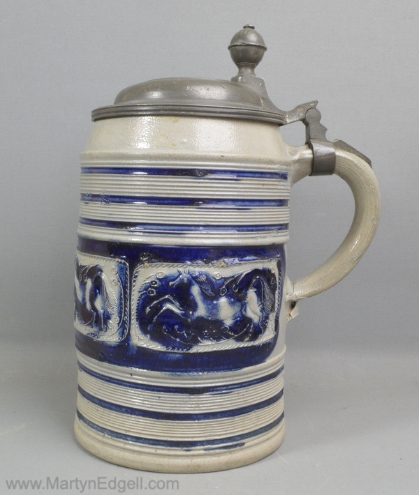 Westerwald stoneware tankard