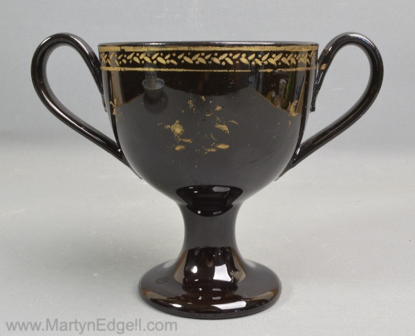 Jackfield black loving cup