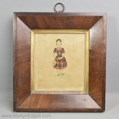 Antique naive watercolour