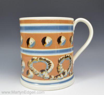 Creamware mocha mug