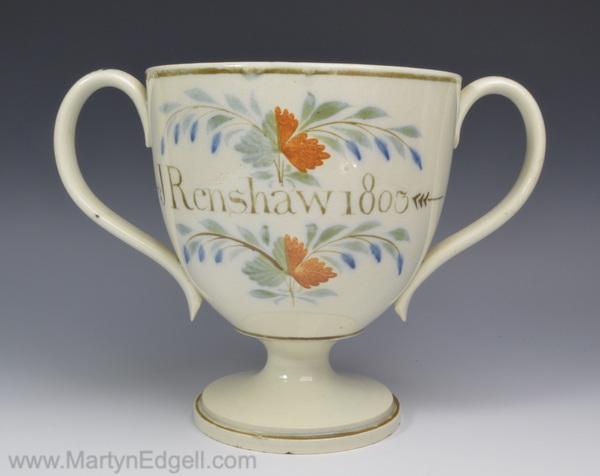 Prattware loving cup