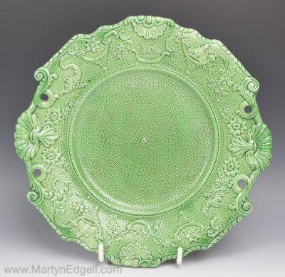 Creamware green plate