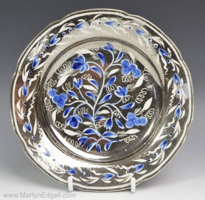 Silver lustre plate