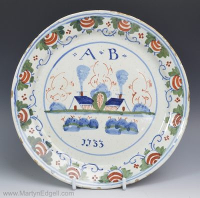 English delft dated plate