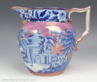Pearlware lustre jug