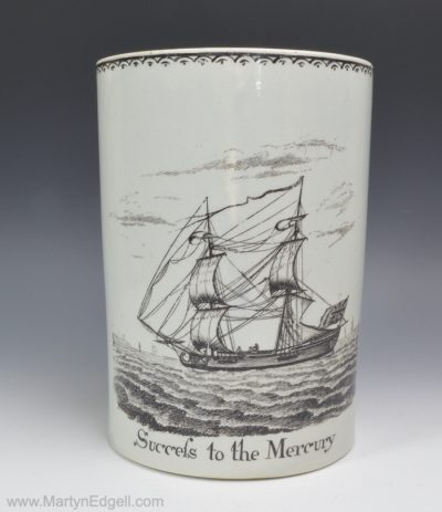Pearlware shipping mug