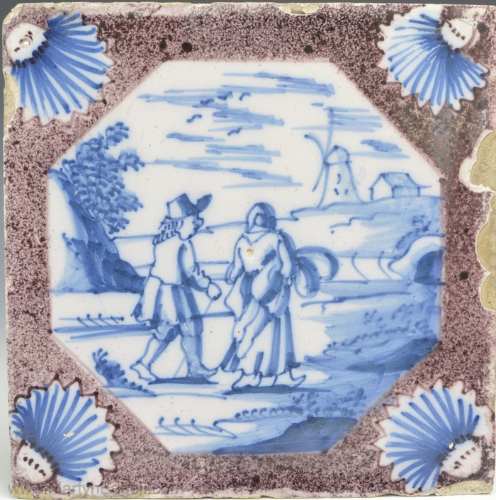English delftware tile