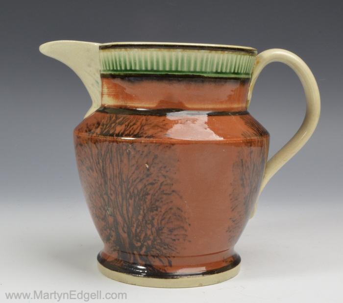 Mocha pearlware jug