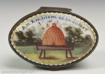 Staffordshire enamel patch box