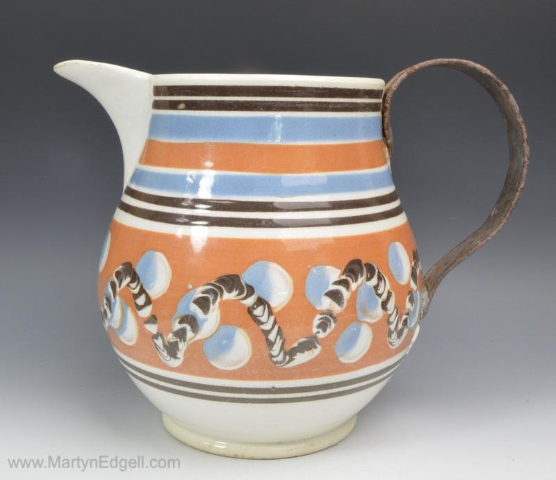 Mochaware jug