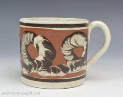 Mochaware pearlware mug