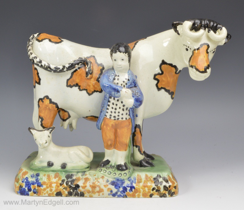 Yorkshire pottery cow