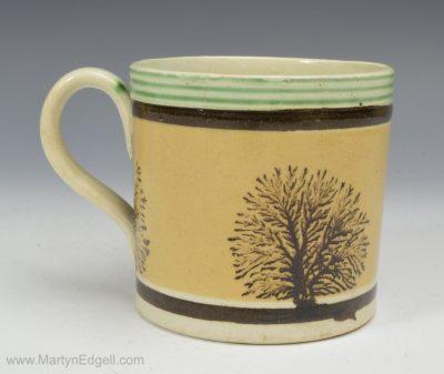 Mochaware child's mug