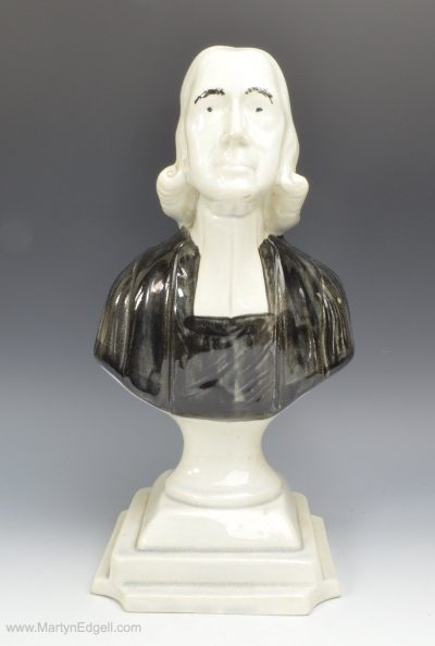 Pearlware bust of Wesley