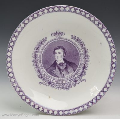 Commemorative saucer