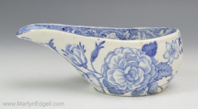 Pearlware pap boat