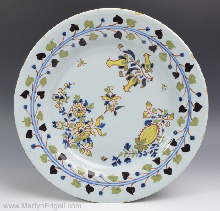 London delftware plate