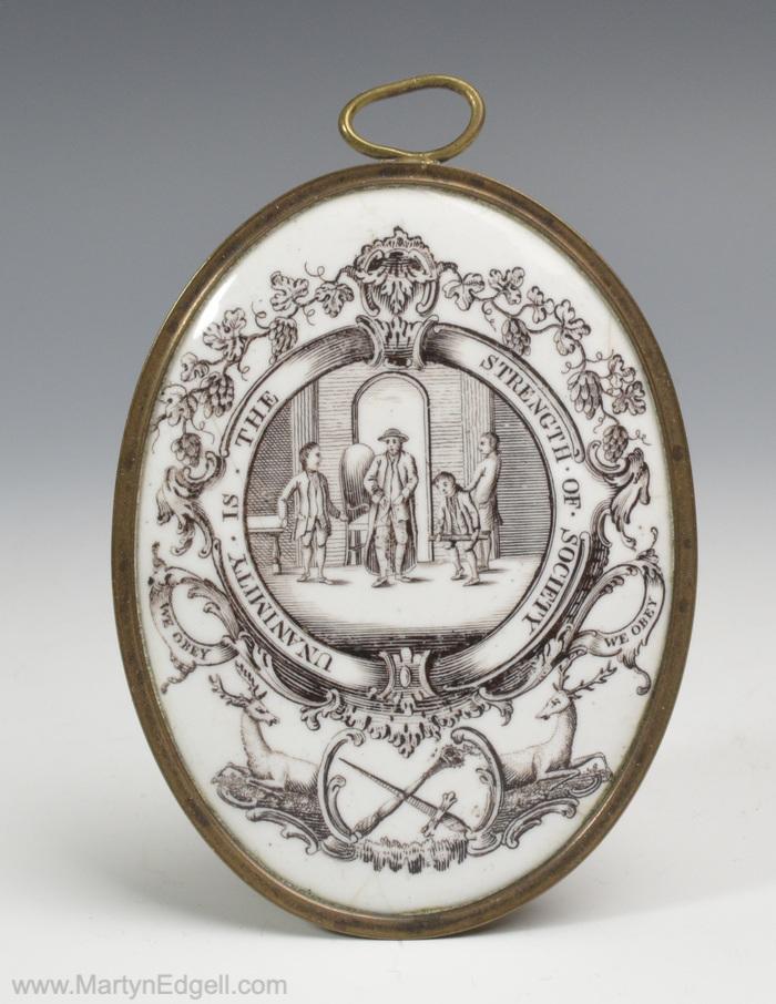 Bilston enamel plaque