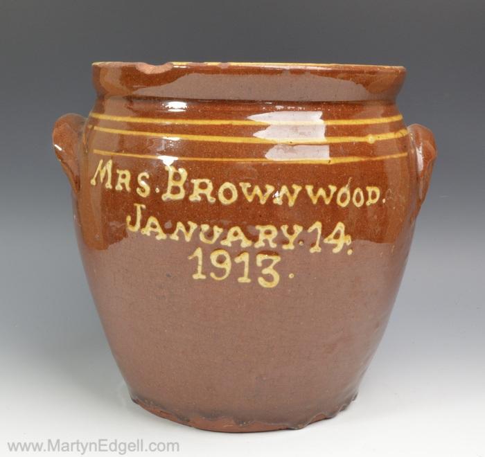 Buckley Slipware jar