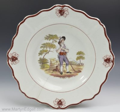 Pearlware pottery plate