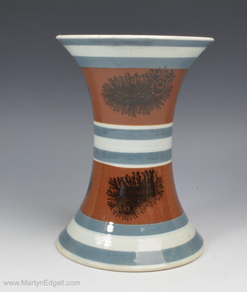 Mochaware spill vase