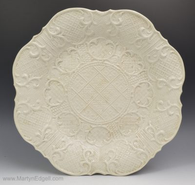 Salt glazed stoneware dish