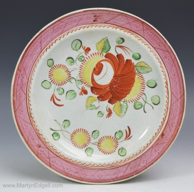 Kings rose plate