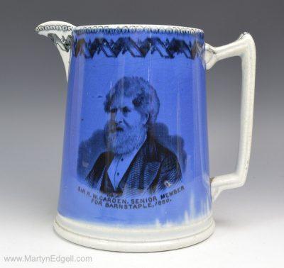 Electioneering pearlware jug