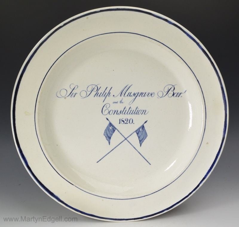 Pearlware commemorative plate