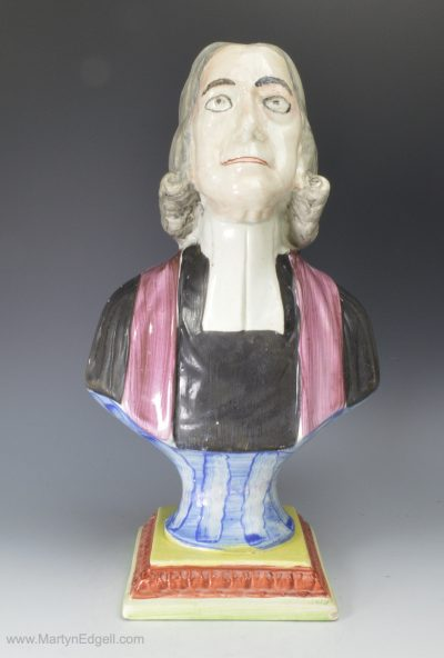 Wesley pearlware bust