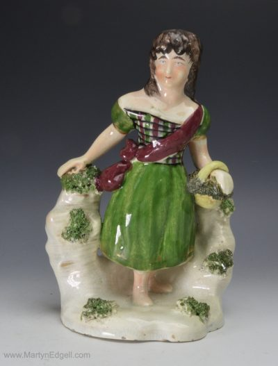 Pearlware pottery figure