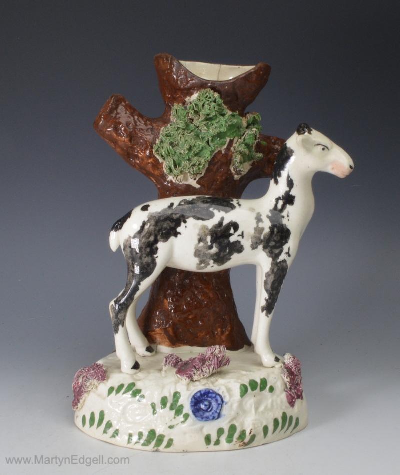 Pearlware pottery deer