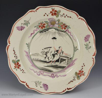Antique creamware plate