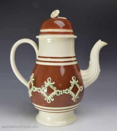 Creamware coffee pot
