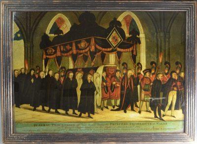 Commemorative glass picture