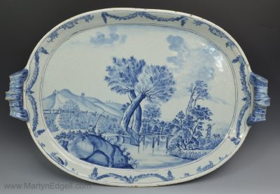 Antique Dutch Delft tray