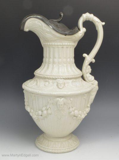 Stoneware moulded jug