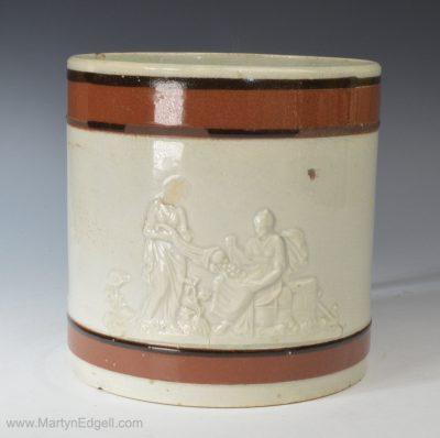 Pearlware pottery mug