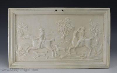 Creamware pottery plaque
