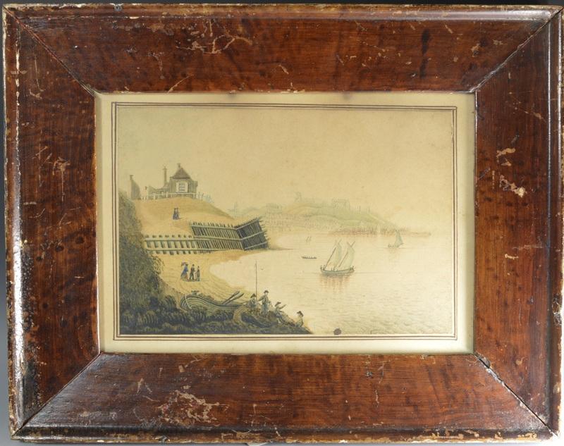 Antique naive watercolour