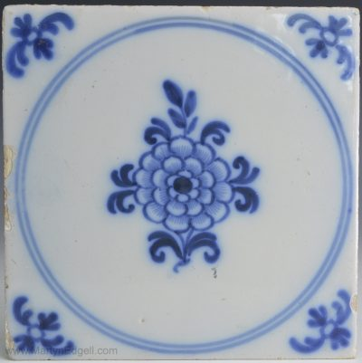 English Liverpool delft tile