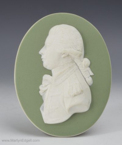 Jasperware portrait plaque