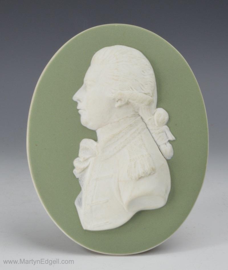 Jasperware portrait plaque