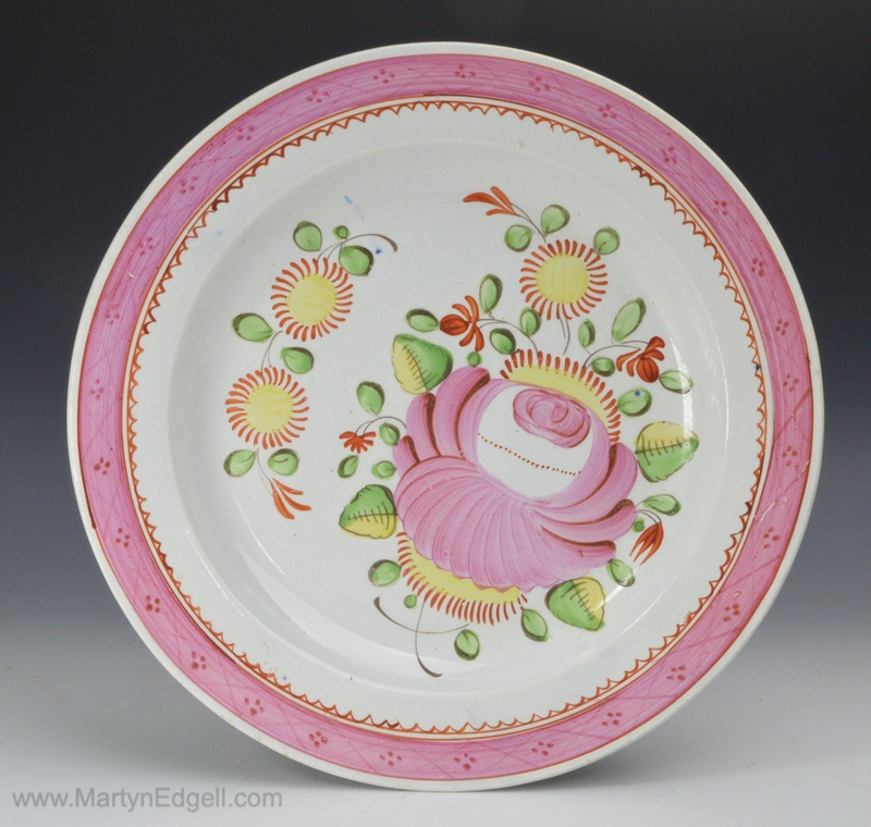 Kings rose pearlware plate